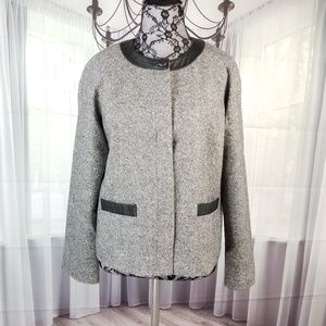 Pendleton Petite Wool Silk Gray Jacket DR10☮️